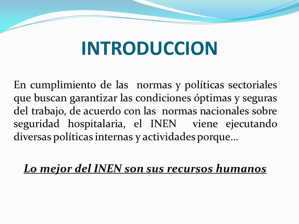 Lo mejor del INEN son sus recursos humanos