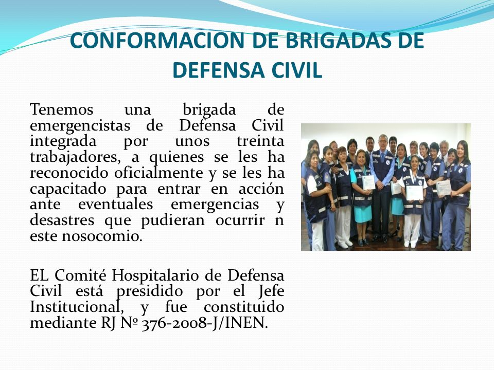 CONFORMACION DE BRIGADAS DE DEFENSA CIVIL
