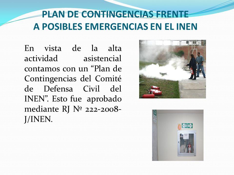 PLAN DE CONTINGENCIAS FRENTE A POSIBLES EMERGENCIAS EN EL INEN