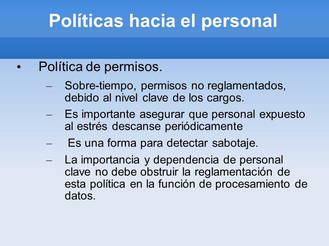 Políticas hacia el personal