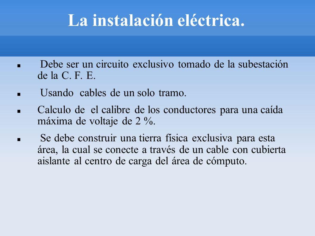 La instalación eléctrica.