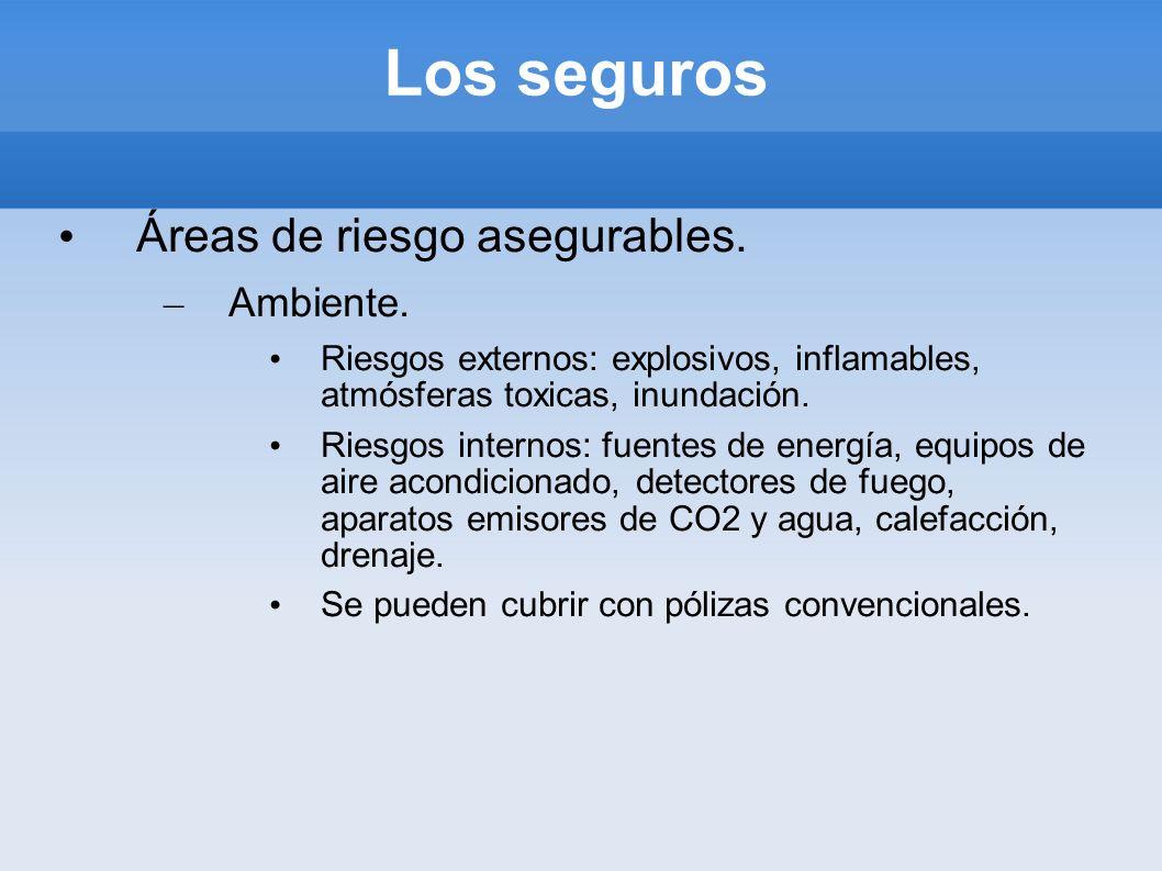 Los seguros Áreas de riesgo asegurables. Ambiente.