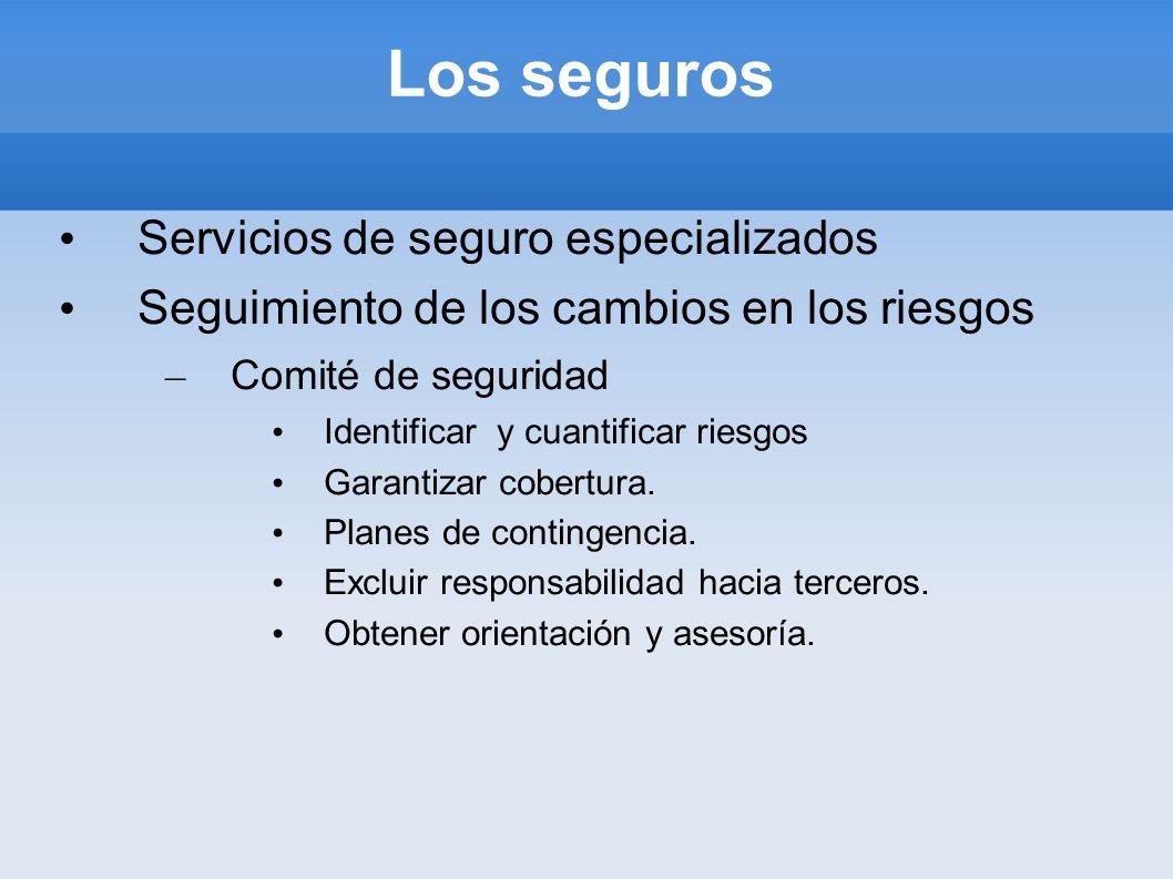 Los seguros Servicios de seguro especializados