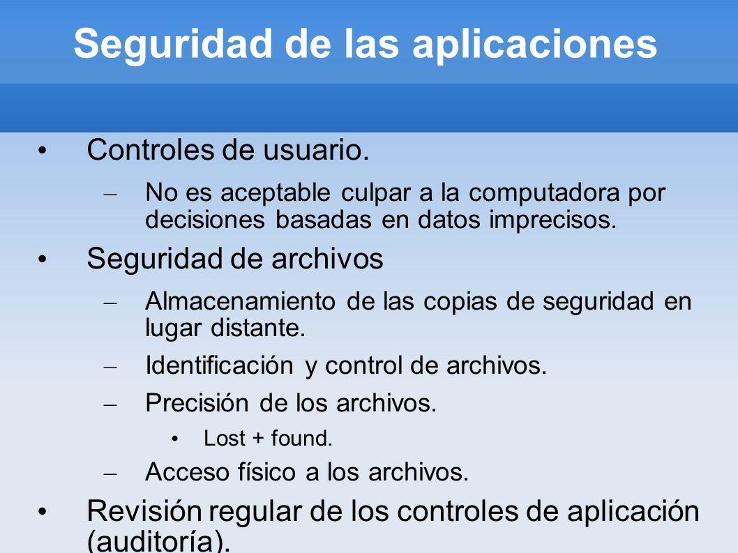 Seguridad de las aplicaciones