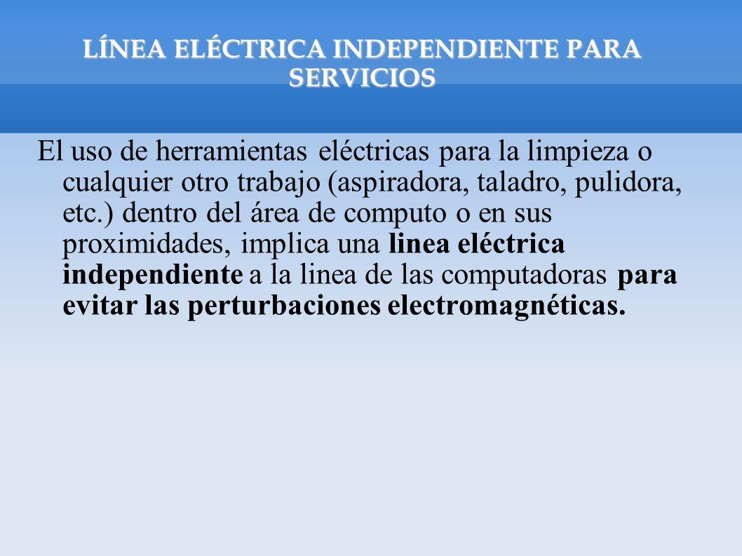 LÍNEA ELÉCTRICA INDEPENDIENTE PARA SERVICIOS
