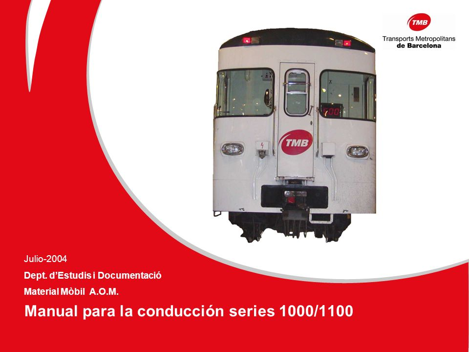Manual para la conducción series 1000/1100