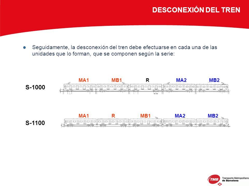 DESCONEXIÓN DEL TREN S-1000 S-1100