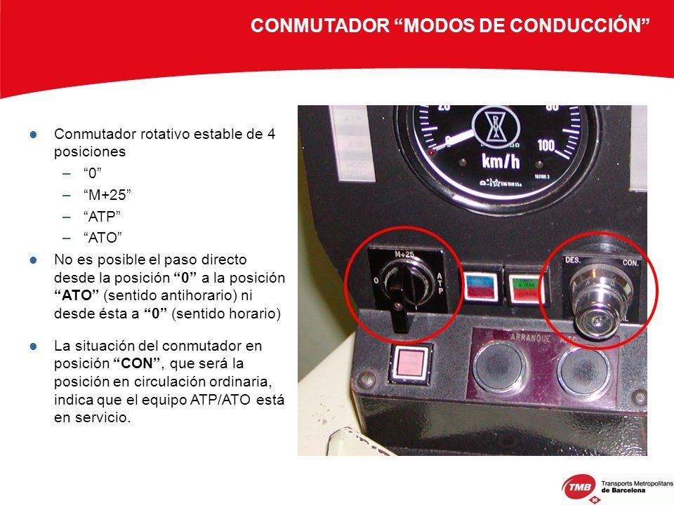 CONMUTADOR MODOS DE CONDUCCIÓN