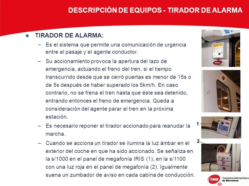 DESCRIPCIÓN DE EQUIPOS - TIRADOR DE ALARMA
