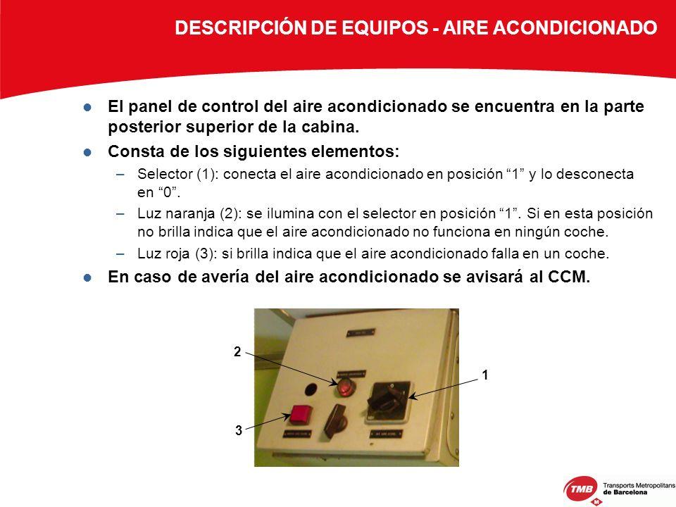 DESCRIPCIÓN DE EQUIPOS - AIRE ACONDICIONADO