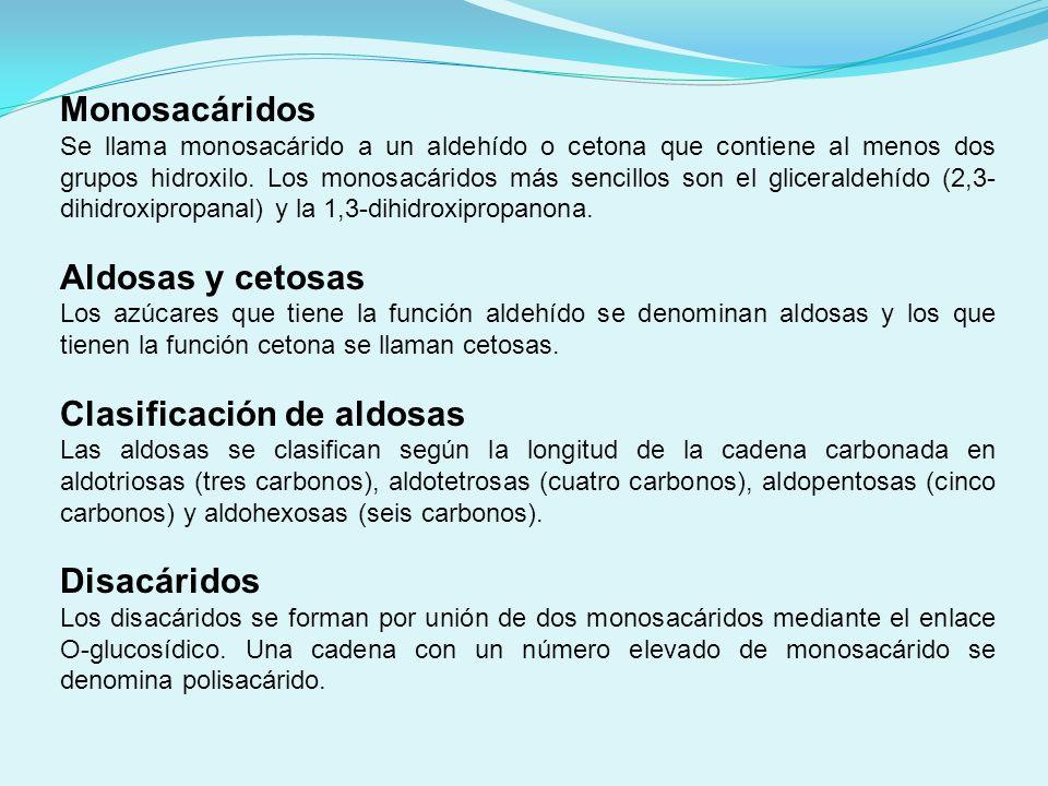 Clasificación de aldosas