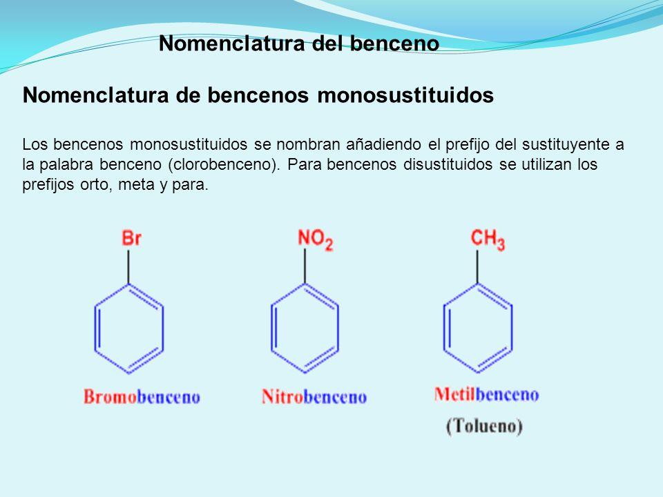 Nomenclatura del benceno