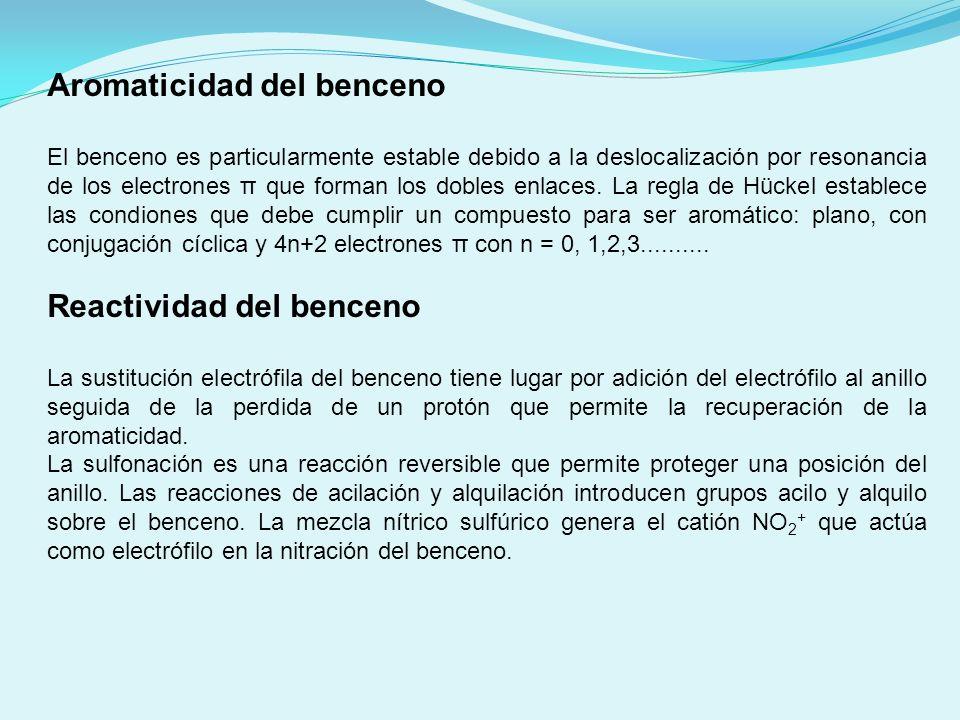 Aromaticidad del benceno
