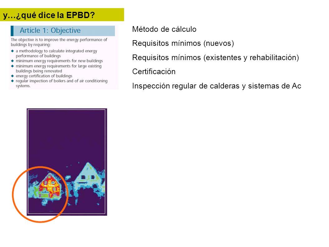 y…¿qué dice la EPBD Método de cálculo Requisitos mínimos (nuevos)
