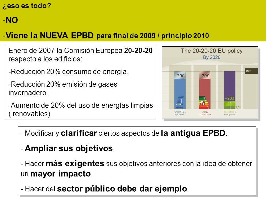 Viene la NUEVA EPBD para final de 2009 / principio 2010