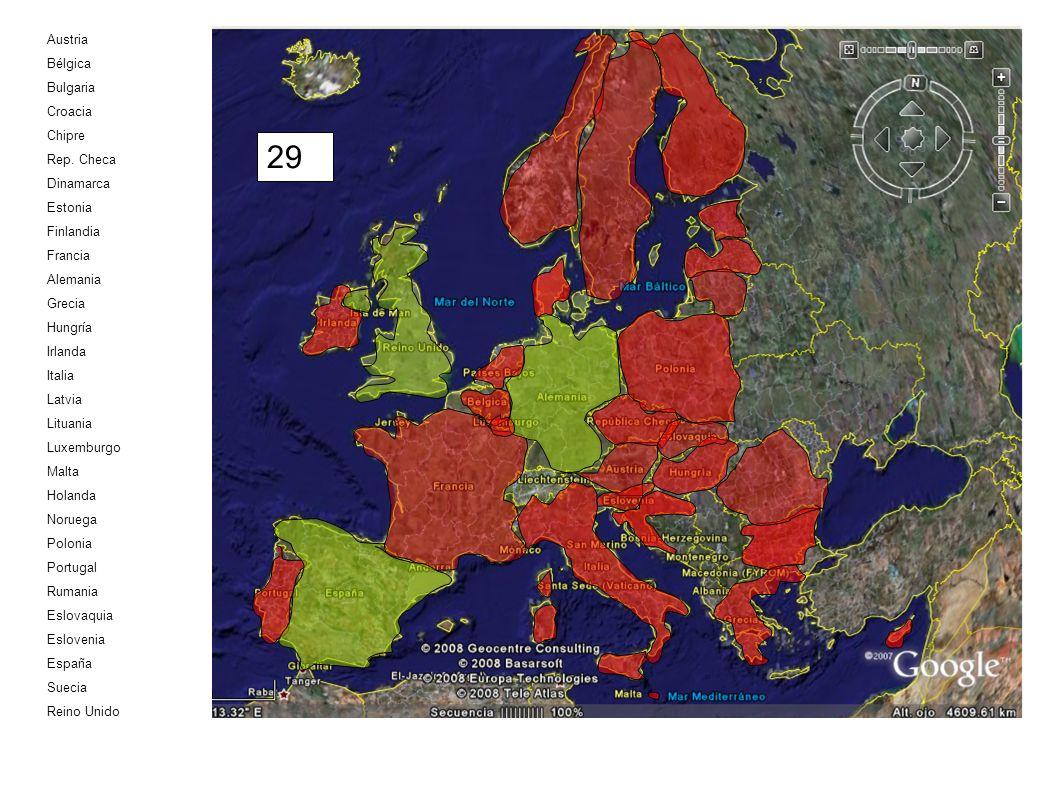 29 Austria Bélgica Bulgaria Croacia Chipre Rep. Checa Dinamarca