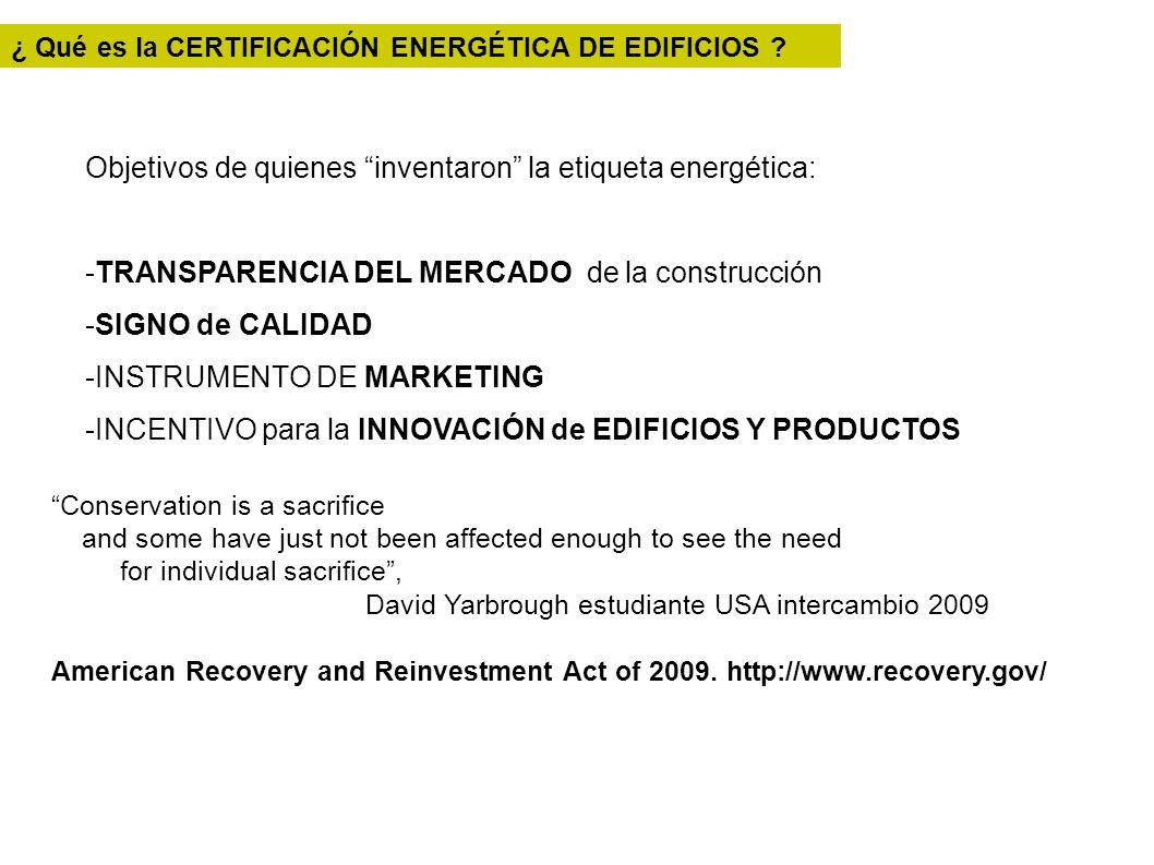 Objetivos de quienes inventaron la etiqueta energética: