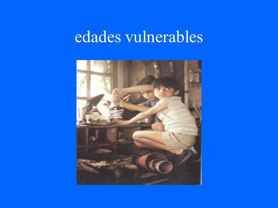 edades vulnerables
