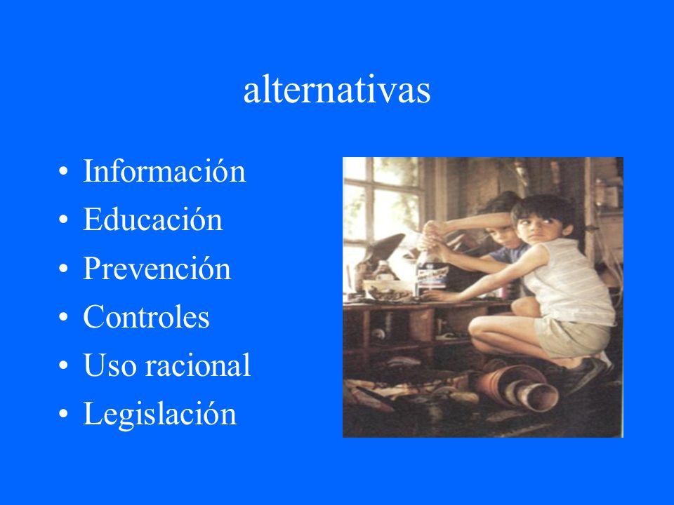 alternativas Información Educación Prevención Controles Uso racional