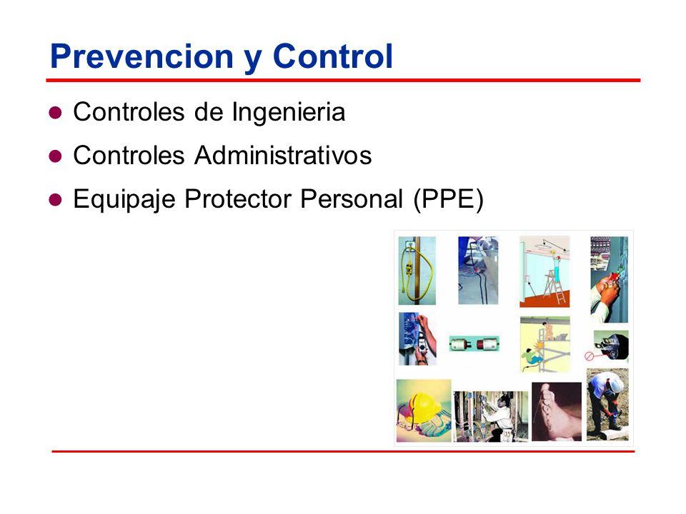 Prevencion y Control Controles de Ingenieria Controles Administrativos