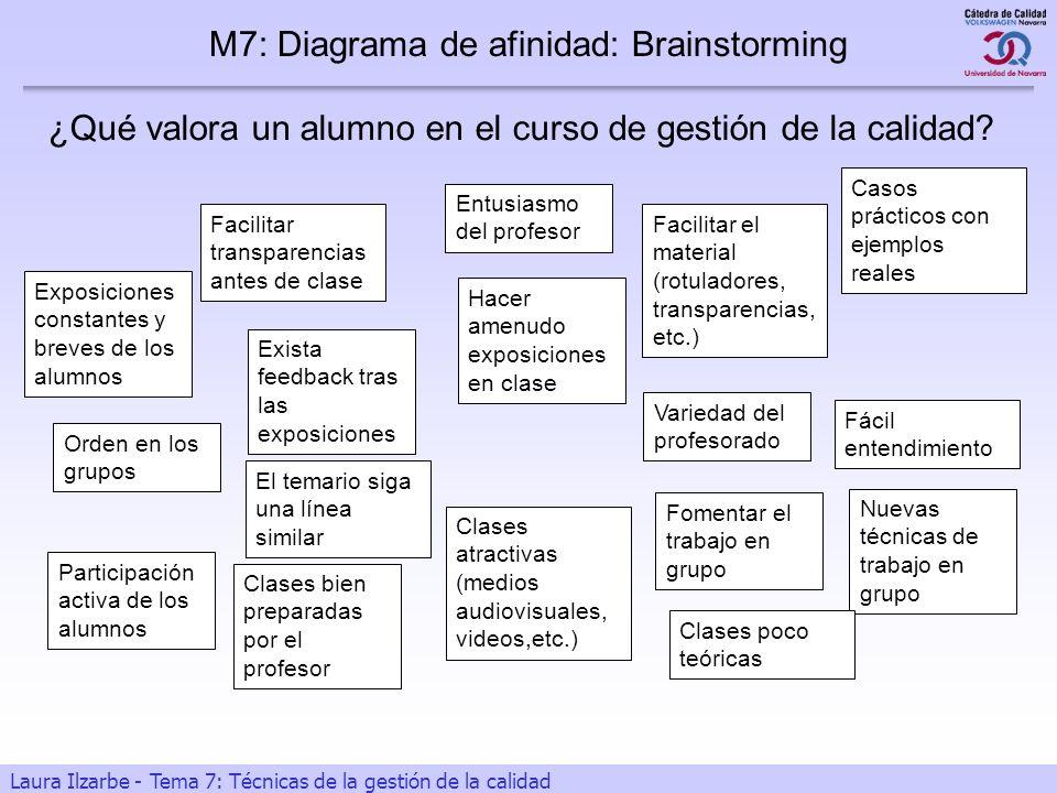 M7: Diagrama de afinidad: Brainstorming