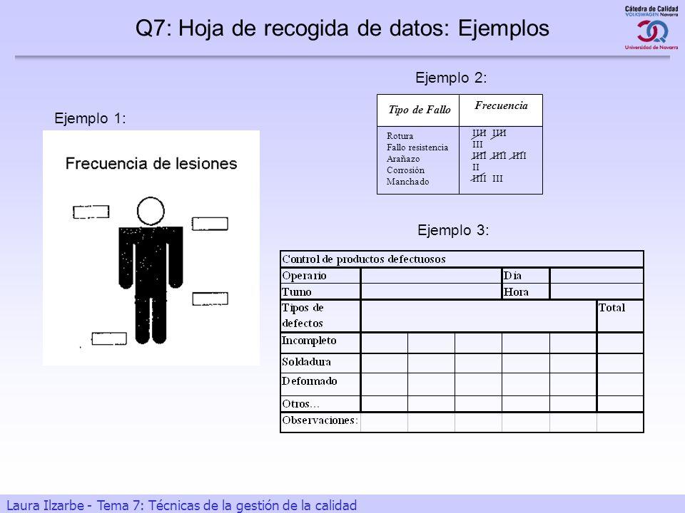 Q7: Hoja de recogida de datos: Ejemplos
