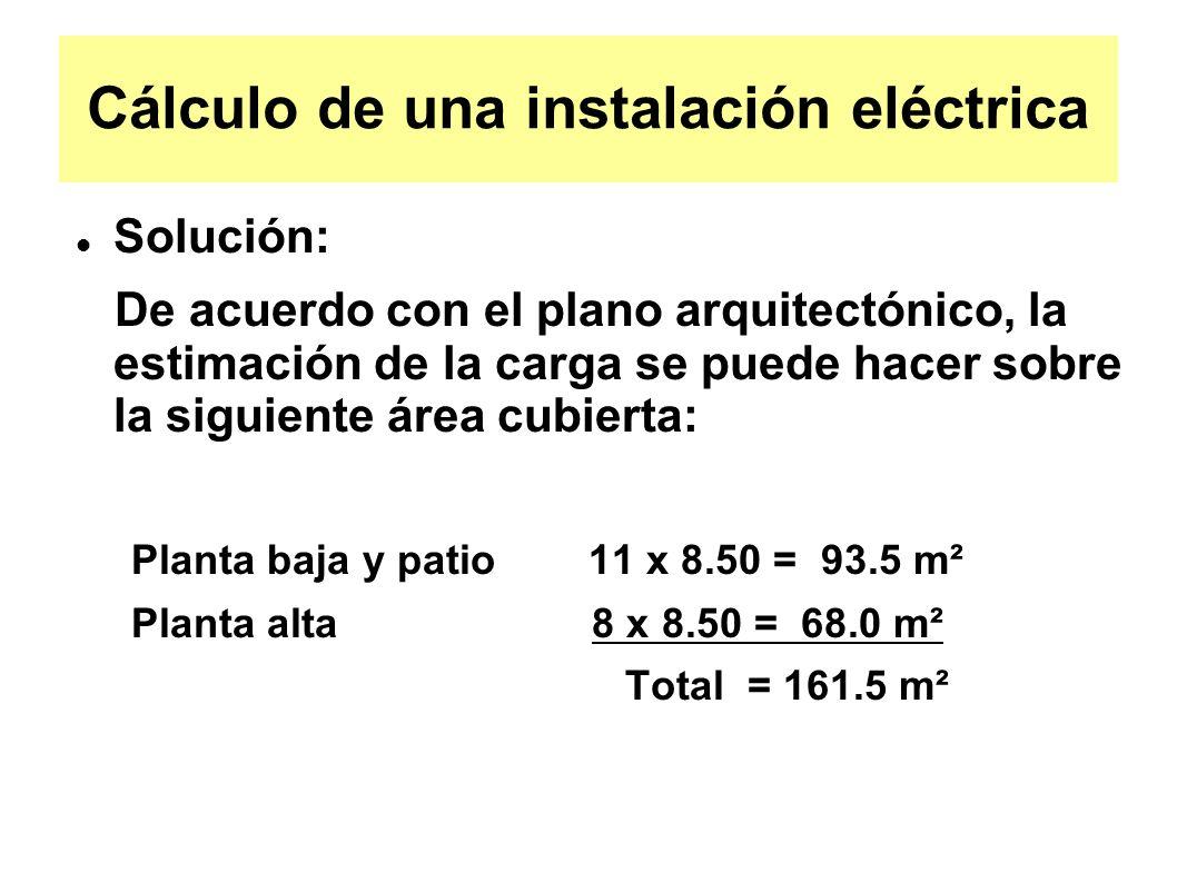 Cálculo de una instalación eléctrica