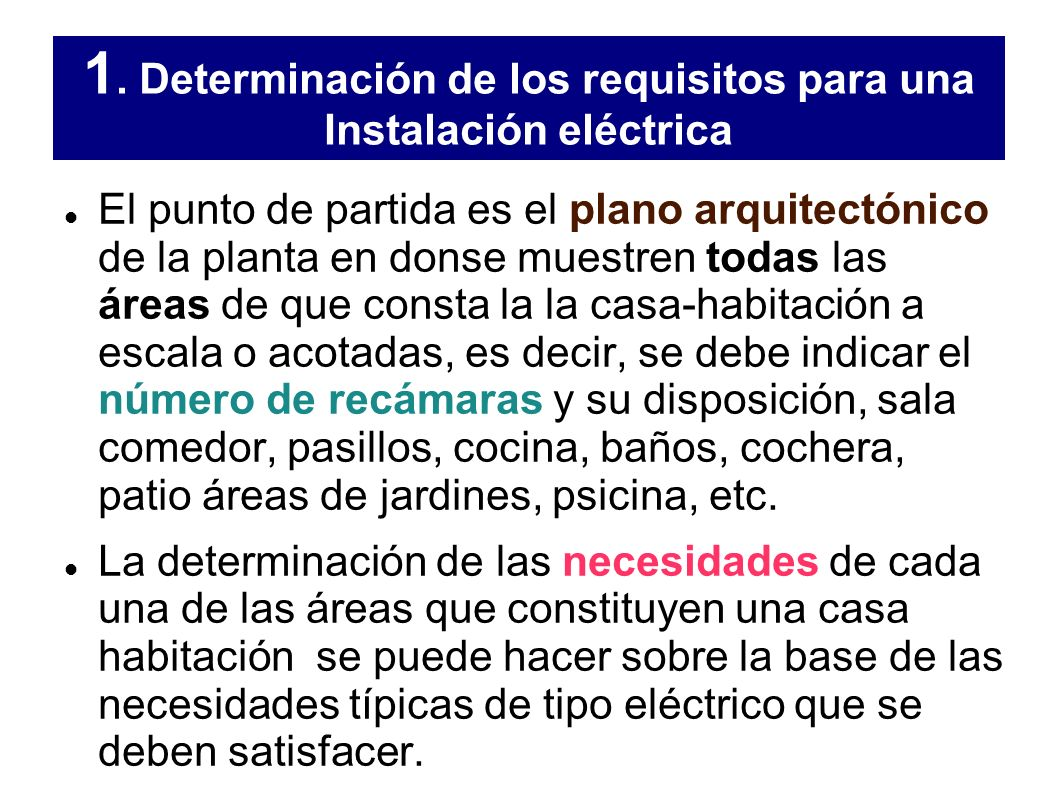 Instalaci n el ctrica ppt descargar - Requisitos para construir una casa ...