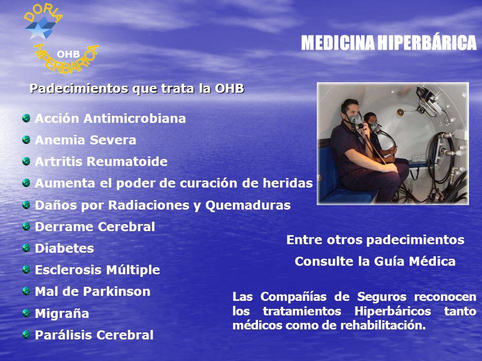 MEDICINA HIPERBÁRICA HIPERBARICA Padecimientos que trata la OHB