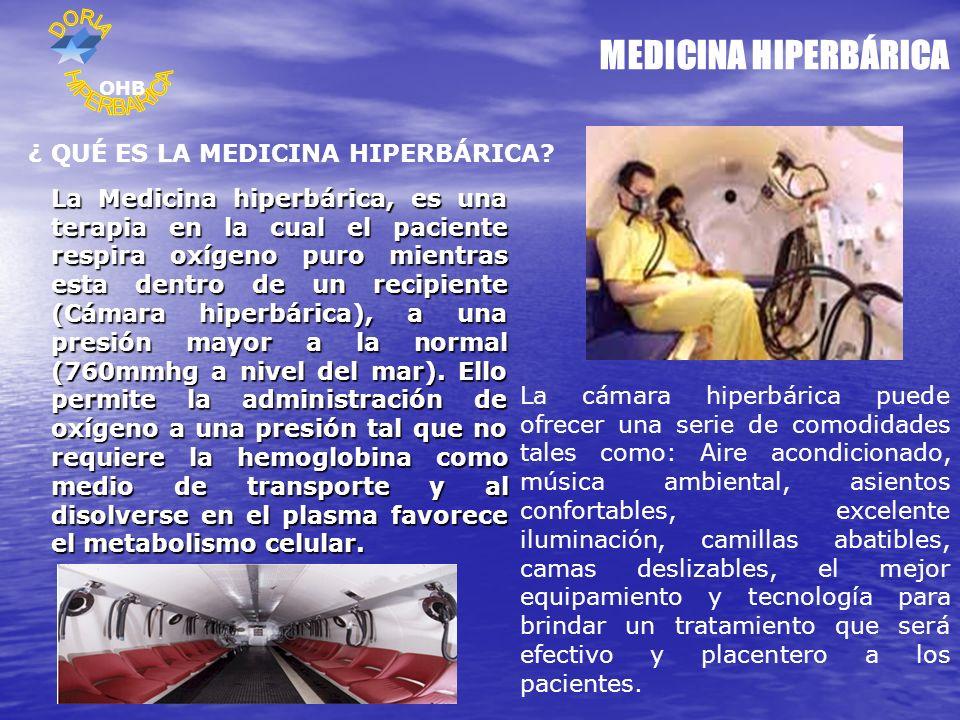 MEDICINA HIPERBÁRICA HIPERBARICA ¿ QUÉ ES LA MEDICINA HIPERBÁRICA