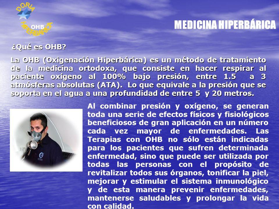 MEDICINA HIPERBÁRICA HIPERBARICA ¿Qué es OHB