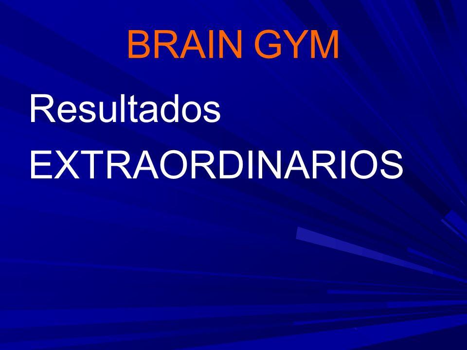 BRAIN GYM Resultados EXTRAORDINARIOS