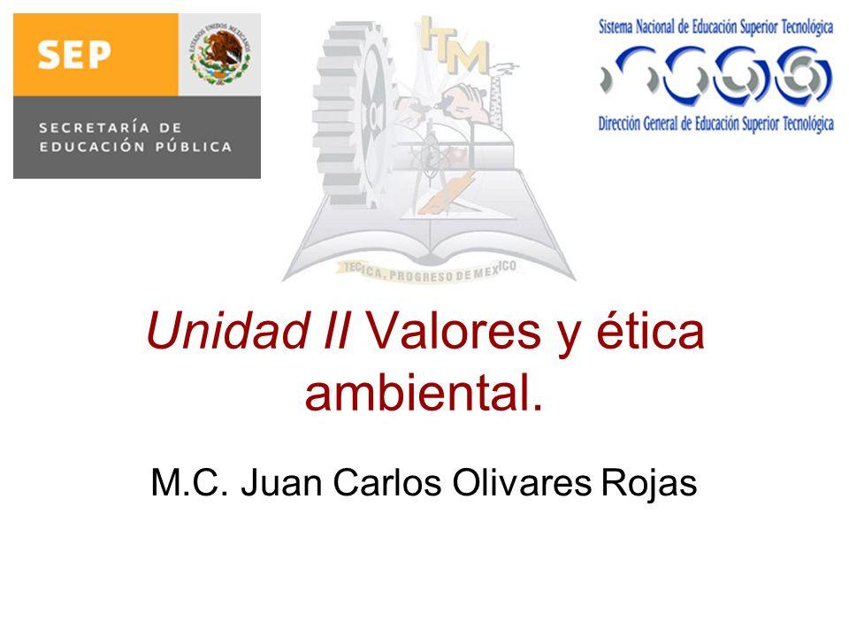 Unidad II Valores y ética ambiental.
