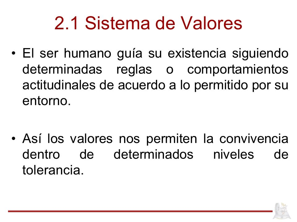 2.1 Sistema de Valores