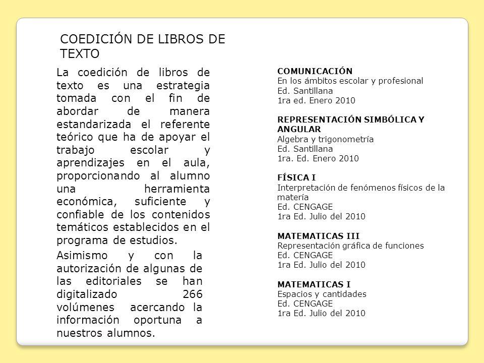 COEDICIÓN DE LIBROS DE TEXTO
