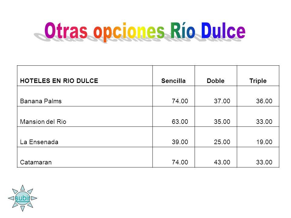 Otras opciones Río Dulce