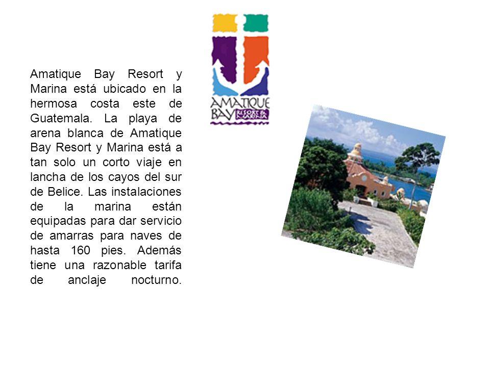 Amatique Bay Resort y Marina está ubicado en la hermosa costa este de Guatemala.