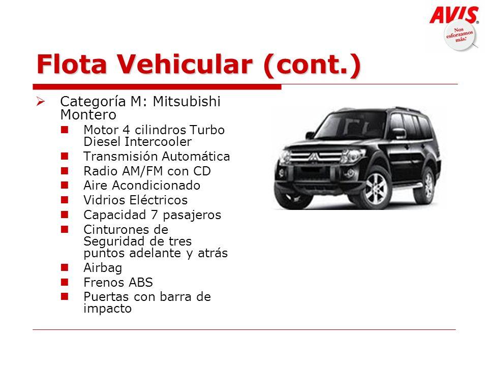 Flota Vehicular (cont.)