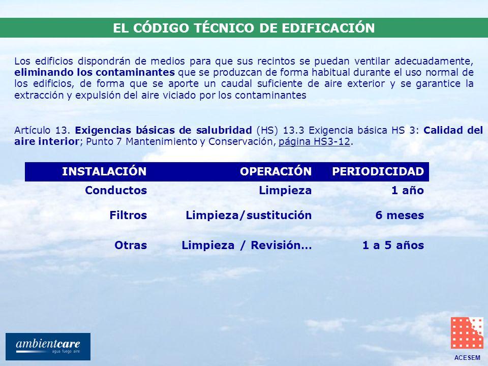 EL CÓDIGO TÉCNICO DE EDIFICACIÓN
