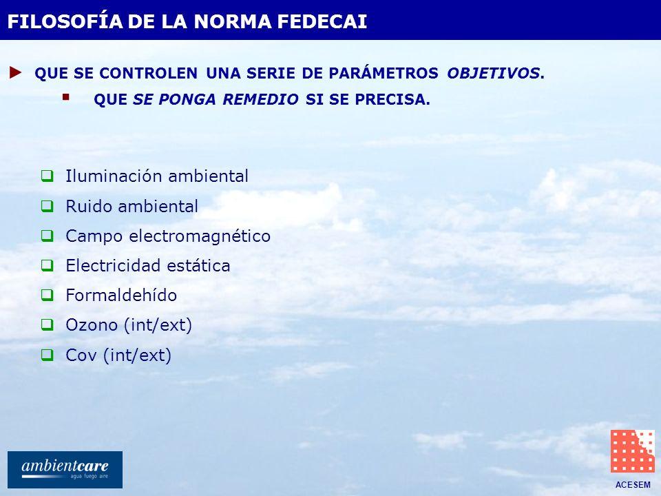 FILOSOFÍA DE LA NORMA FEDECAI