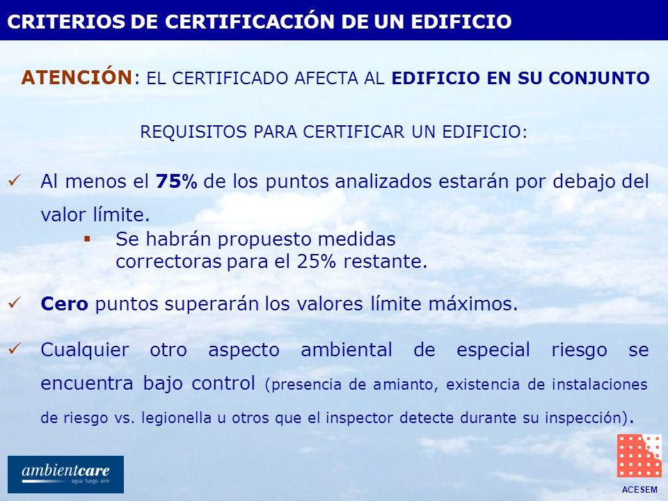 CRITERIOS DE CERTIFICACIÓN DE UN EDIFICIO