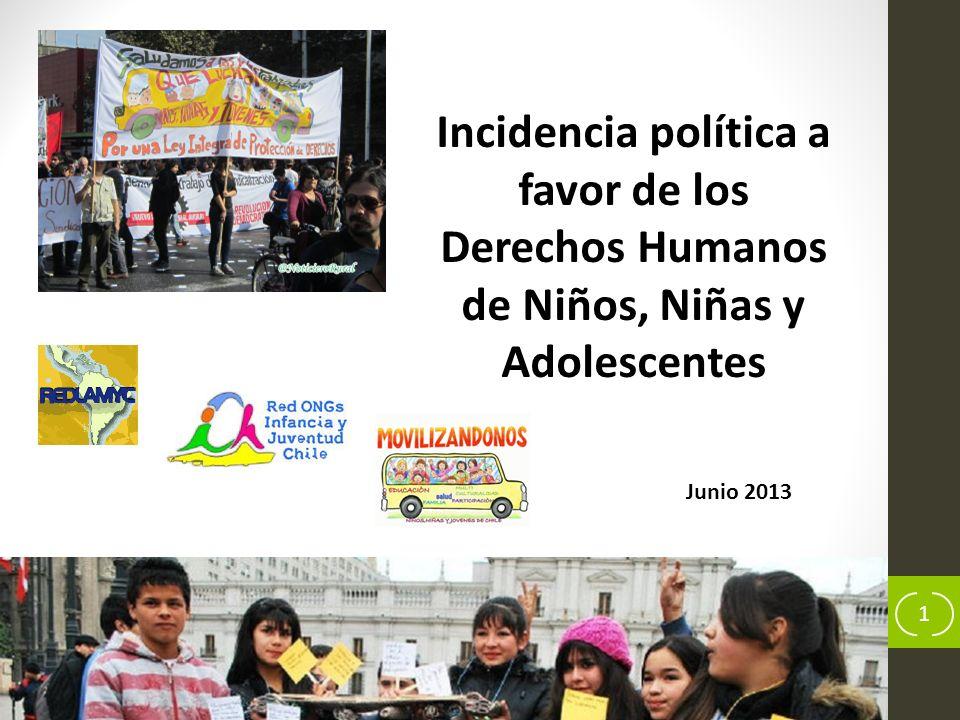 Incidencia política a favor de los Derechos Humanos de Niños, Niñas y Adolescentes