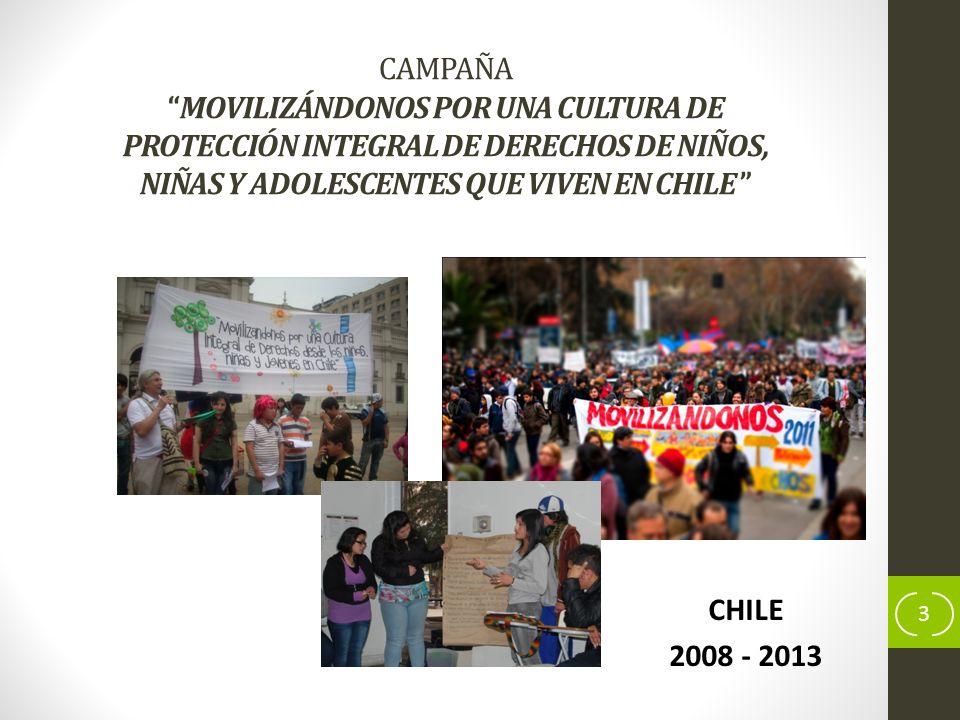 CAMPAÑA MOVILIZÁNDONOS POR UNA CULTURA DE PROTECCIÓN INTEGRAL DE DERECHOS DE NIÑOS, NIÑAS Y ADOLESCENTES QUE VIVEN EN CHILE
