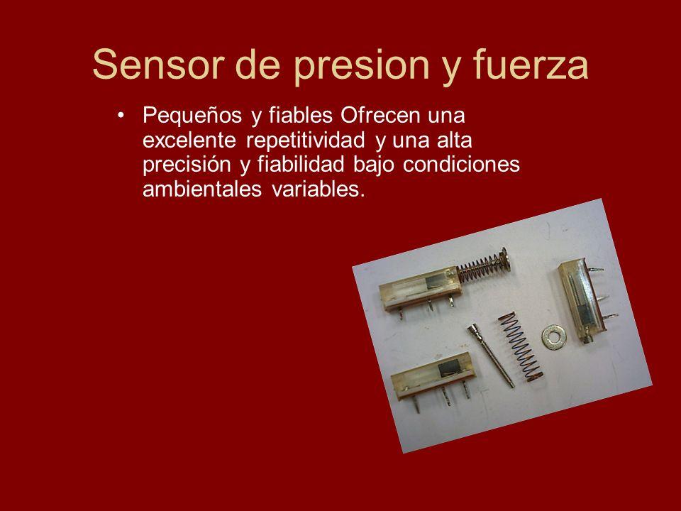 Sensor de presion y fuerza