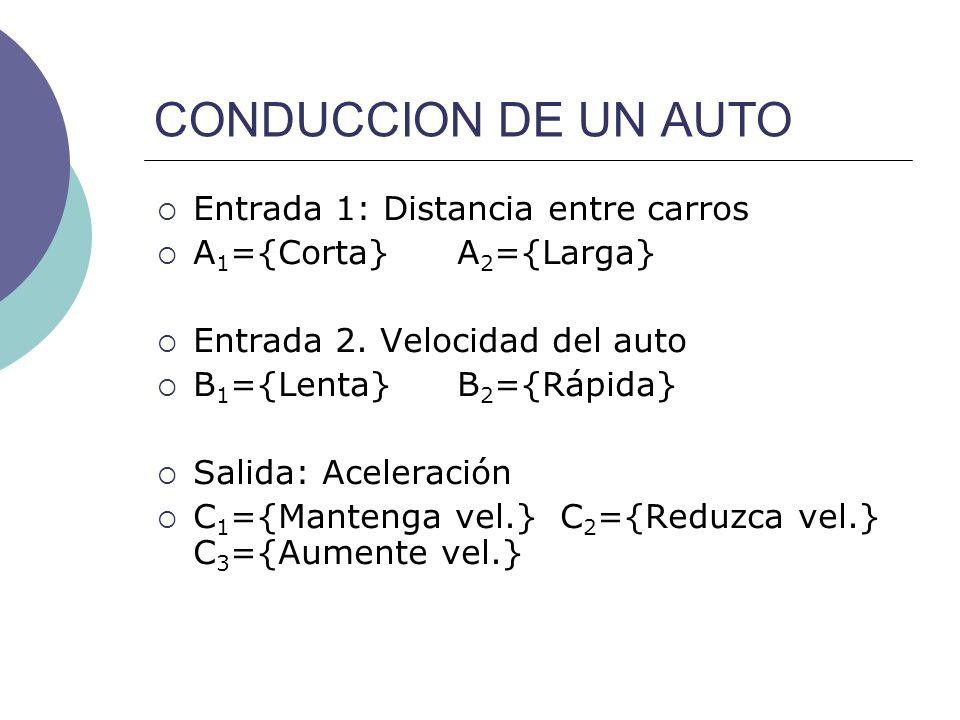 CONDUCCION DE UN AUTO Entrada 1: Distancia entre carros