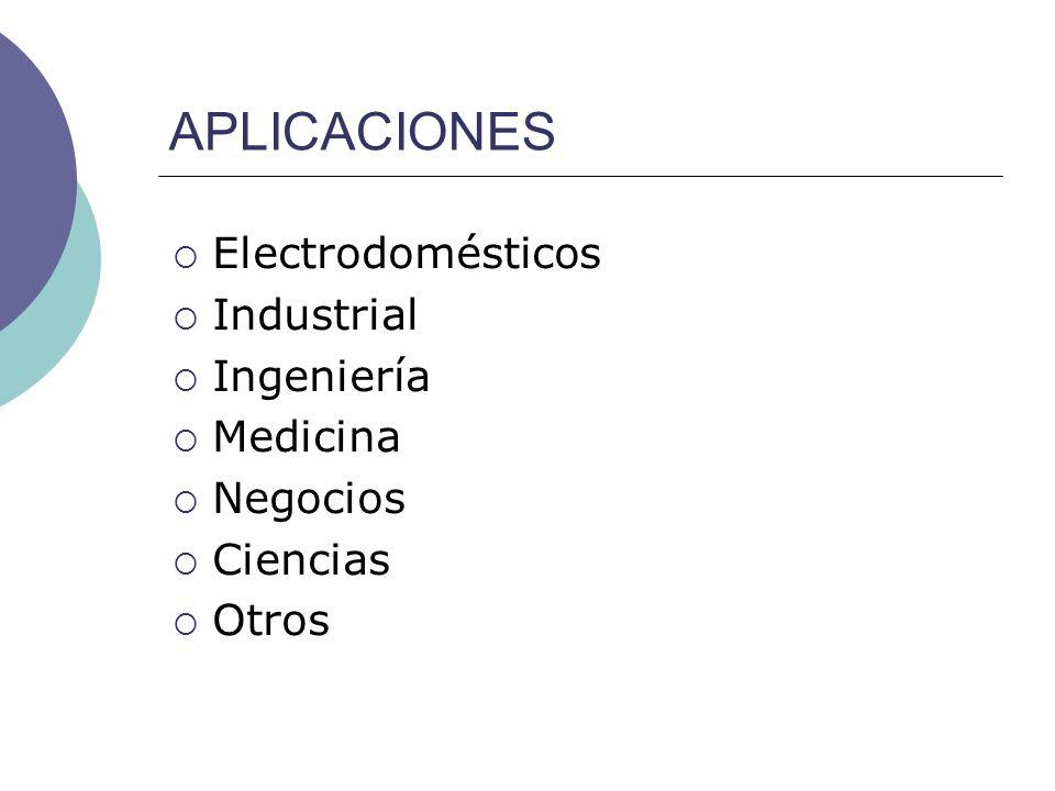 APLICACIONES Electrodomésticos Industrial Ingeniería Medicina Negocios