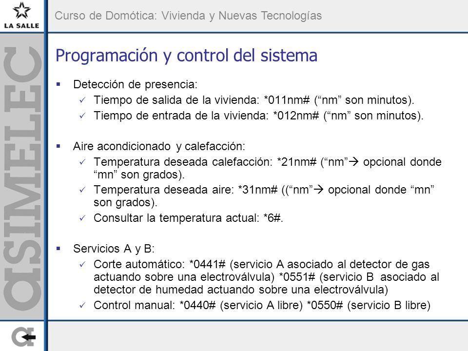 Programación y control del sistema