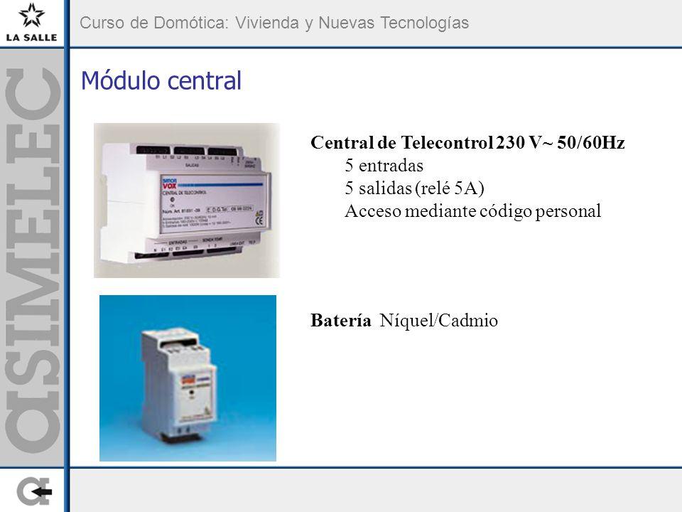 Módulo central Central de Telecontrol 230 V~ 50/60Hz 5 entradas