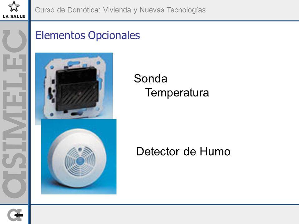 Elementos Opcionales Sonda Temperatura Detector de Humo