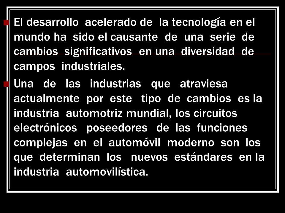 El desarrollo acelerado de la tecnología en el mundo ha sido el causante de una serie de cambios significativos en una diversidad de campos industriales.
